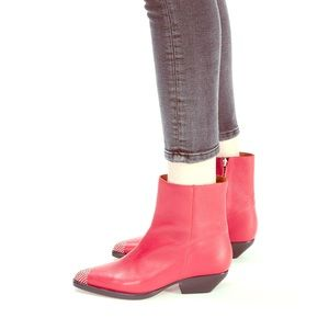 NEW In box IRO Santiago Red Boots Sz 39 $705